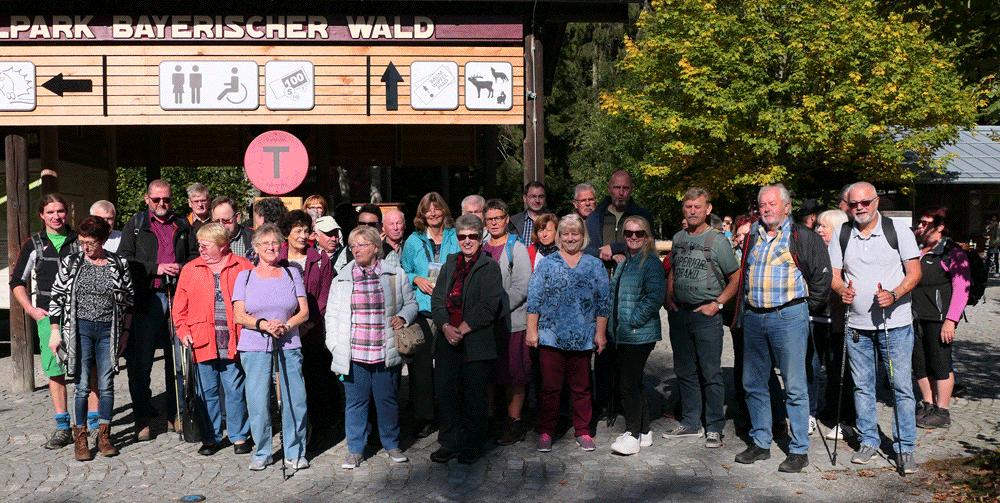 Ausflugsgruppe im Nationalpark
